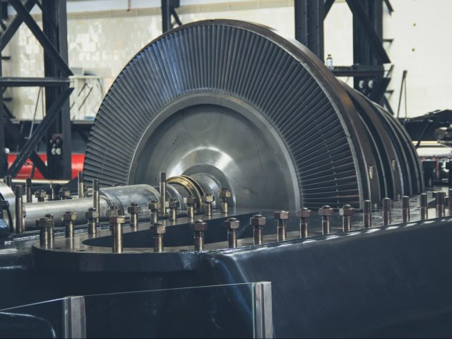Electric turbine in a factory